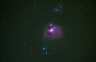 Emissionsnebel astronomie mit dem fernglas astronomy on a