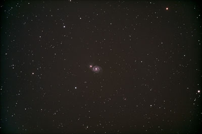 Das Galaxienpaar M51/NGC 5195 in den Jagdhunden ist eines der bekanntesten Galaxienpaare.